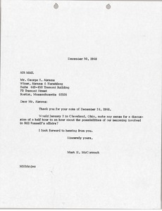 Thumbnail of Letter from Mark H. McCormack to George S. Abrams