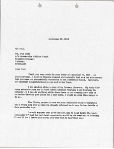 Thumbnail of Letter from Mark H. McCormack to Donald L. Dell