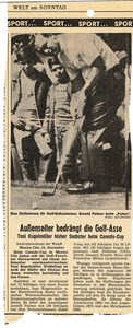 Thumbnail of Newspaper clipping on Arnold Palmer, 1967