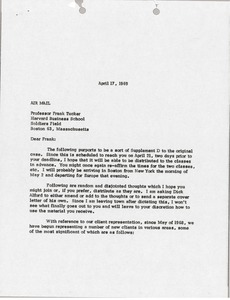 Thumbnail of Letter from Mark H. McCormack to Frank Tucker