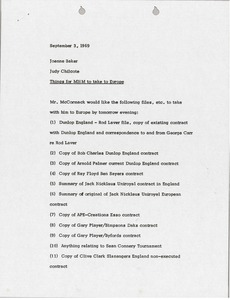 Thumbnail of Memorandum from Judy Chilcote to Joanne Baker