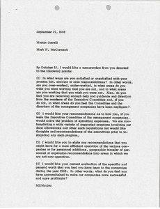 Thumbnail of Memorandum from Mark H. McCormack to Martin S. Sorrell