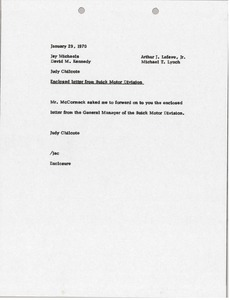 Thumbnail of Memorandum from Judy Chilcote to Jay Michaels