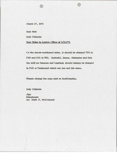 Thumbnail of Memorandum from Judy A. Chilcote to Inge Ratz