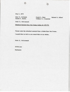 Thumbnail of Memorandum from Judy A. Chilcote to John W. McGrath