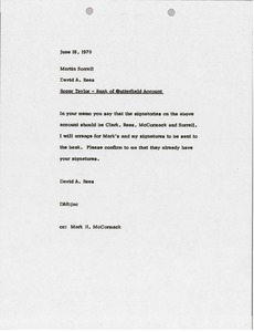 Thumbnail of Memorandum from David A. Rees to Martin Sorrell