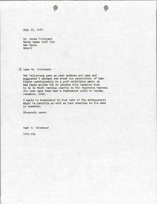 Thumbnail of Letter from Mark H. McCormack to Jesse Rheinhart