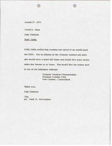Thumbnail of Memorandum from Judy Chilcote to David A. Rees