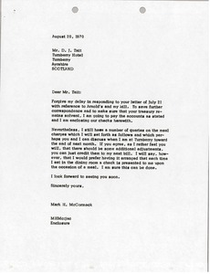 Thumbnail of Letter from Mark H. McCormack to D. J. Tait