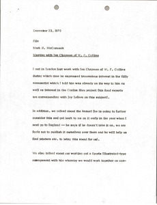 Thumbnail of Memorandum from Mark H. McCormack to Ian Chapman file