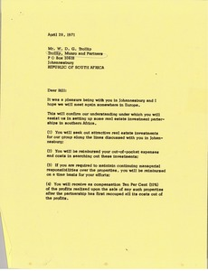 Thumbnail of Letter from Mark H. McCormack to William D. G. Trollilp
