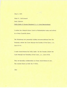 Thumbnail of Letter from Judy A. Chilcote to Mark H. McCormack