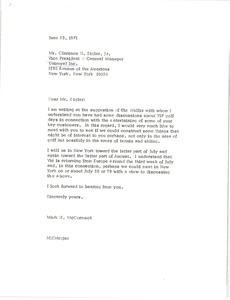 Thumbnail of Letter from Mark H. McCormack to Clarence H. Sigler