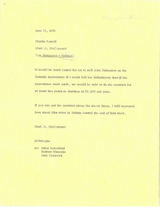 Thumbnail of Memorandum from Mark H. McCormack to Martin Sorrell