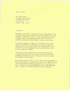 Thumbnail of Letter from Mark H. McCormack to Paul Putnam