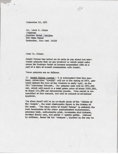 Thumbnail of Letter from Mark H. McCormack to Louis K. Eilers
