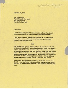 Thumbnail of Letter from Mark H. McCormack to Jack Henry