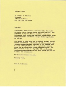 Thumbnail of Letter from Mark H. McCormack to William H. Scherman