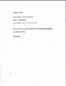 Thumbnail of Memorandum from Mark H. McCormack to Darrell Brown and Jules Rosenthal