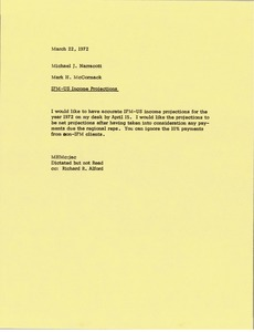 Thumbnail of Memorandum from Mark H. McCormack to Michael J. Narracott