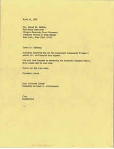 Thumbnail of Letter from Judy Chilcote to James M. Raftery