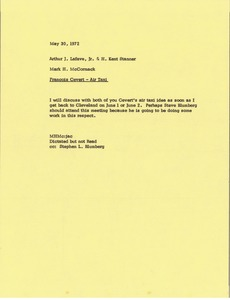 Thumbnail of Memorandum from Mark H. McCormack to Arthur J. Lafave and H. Kent Stanner