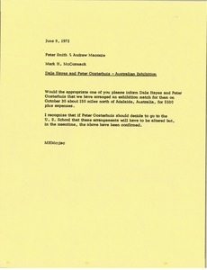 Thumbnail of Memorandum from Mark H. McCormack to Peter Smith and Andrew Maconie