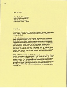 Thumbnail of Letter from Mark H. McCormack to Clarke E. Bearden