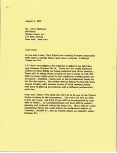 Thumbnail of Letter from Mark H. McCormack to Dave Mahoney