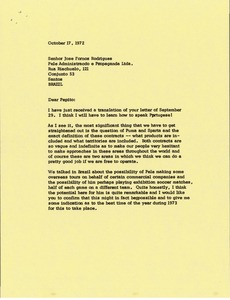 Thumbnail of Letter from Mark H. McCormack to Jose Fornos Rodrigues
