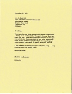 Thumbnail of Letter from Mark H. McCormack to R Paul Ziff