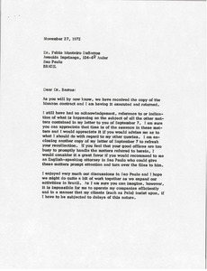 Thumbnail of Letter from Mark H. McCormack to Fabio Monteiro DeBarros