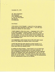 Thumbnail of Letter from Mark H. McCormack to Bruce Rappaport