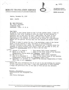 Thumbnail of Letter from Jose Fornos Rodrigues to Mark H. McCormack