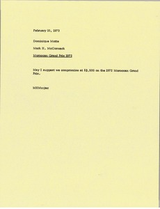 Thumbnail of Memorandum from Mark H. McCormack to Dominique Motte