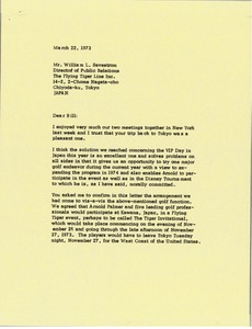 Thumbnail of Letter from Mark H. McCormack to William L. Savestrom