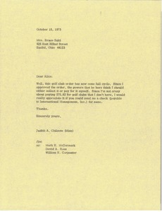 Thumbnail of Letter from Judy Chilcote to Bruce Suki