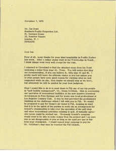 Thumbnail of Letter from Mark H. McCormack to Ian Boyd
