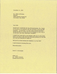 Thumbnail of Letter from Mark H. McCormack to Willis McFarlane