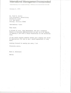 Thumbnail of Letter from Mark H. McCormack to Fred W. Heckel
