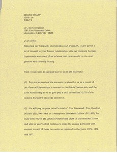 Thumbnail of Letter from Mark H. McCormack to David Brilliant