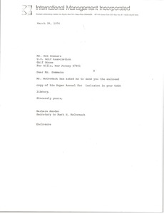 Thumbnail of Letter from Barbara Amodeo to Robert (Robert T.) Sommers