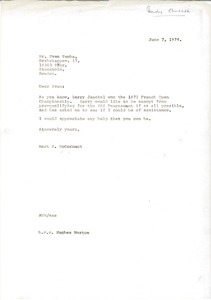Thumbnail of Letter from Mark H. McCormack to Sven Tumba