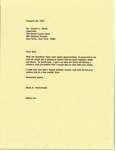 Thumbnail of Letter from Mark H. McCormack to Robert L. Stone