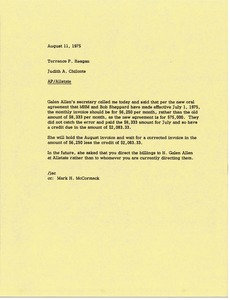 Thumbnail of Memorandum from Judy A. Chilcote to Terrence P. Reagan