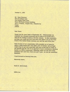 Thumbnail of Letter from Mark H. McCormack to Russ Emerson