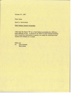 Thumbnail of Memorandum from Mark H. McCormack to Peter Kuhn