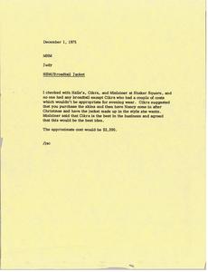 Memorandum from Judy A. Chilcote to Mark H. McCormack