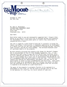 Thumbnail of Letter from Stephen E. Krasa to Mark H. McCormack