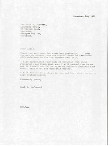 Thumbnail of Letter from Mark H. McCormack to Iain M. Stewart